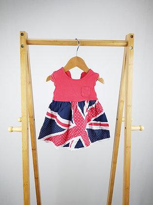 George Union Jack dress 0-3 months