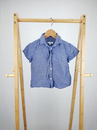 Bluezoo blue short sleeve shirt 18-24 months