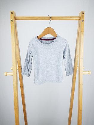 Matalan grey long sleeve top 12-18 month