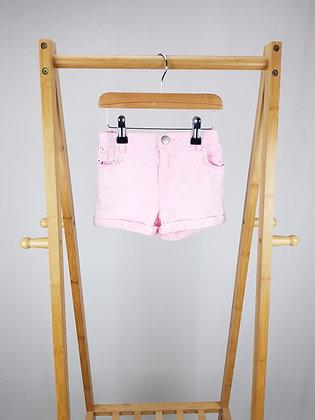 F&F pink denim shorts 6-7 years