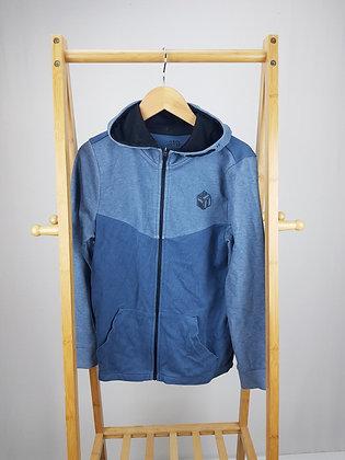 F&F blue zipped hoodie 10-11 years