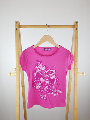 Bebe Lonia pink butterfly t-shirt 13-14 years