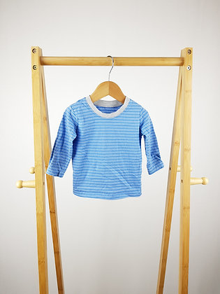 Mothercare striped long sleeve top 6-9 months