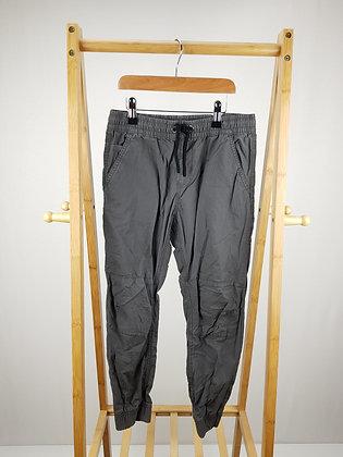F&F grey cuffed trousers 9-10 years