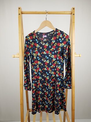 F&F long sleeve floral dress 11-12 years
