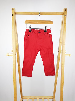 Birba red trousers 12-18 months