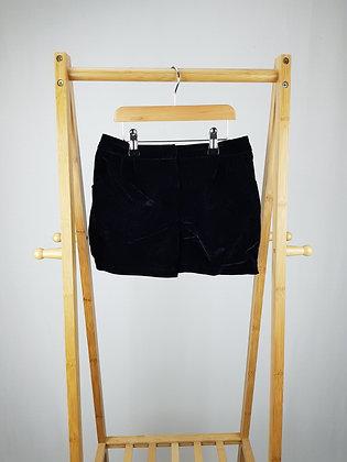 George black velvet shorts 8-9 years