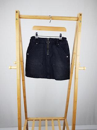 M&S black denim skirt 7-8 years