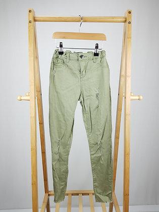 Denim Co khaki skinny jeans 9-10 years