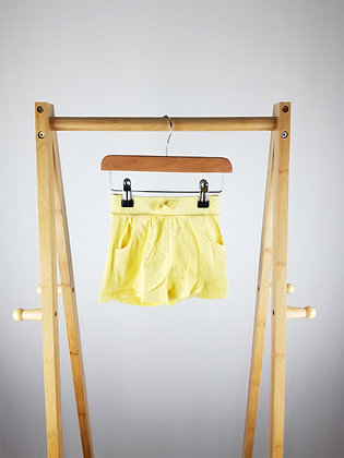 George yellow shorts 12-18 months
