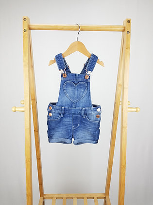 H&M short denim dungarees 2-3 years