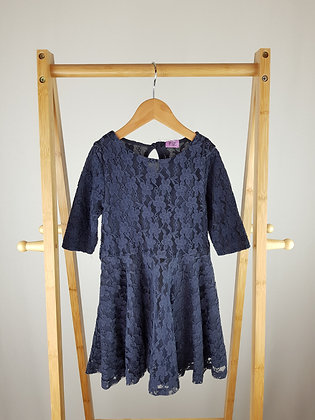 F&F 3/4 sleeve navy lace dress 4-5 years