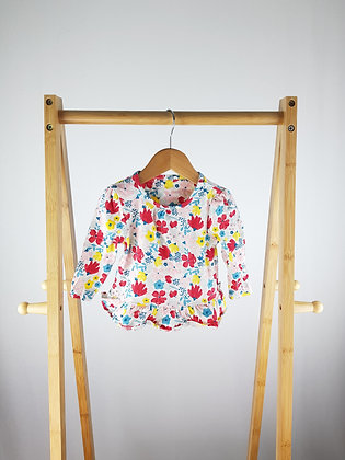Mini club floral long sleeve top 6-9 months