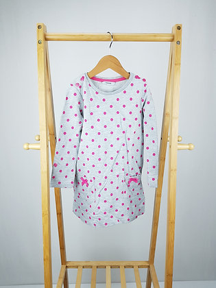 George long sleeve spotted dress 4-5 years