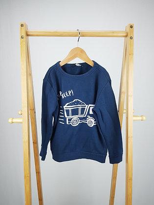 George navy truck sweater 5-6 years