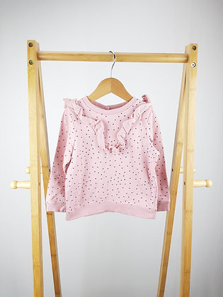 Mothercare pink spotted sweater 2-3 years
