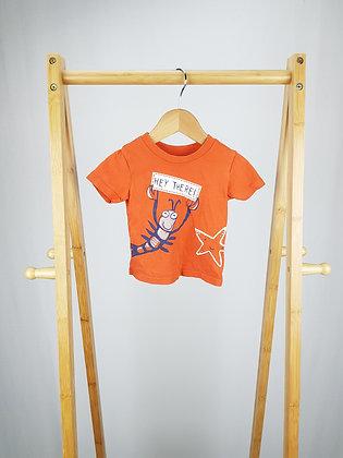 George orange t-shirt 3-6 months