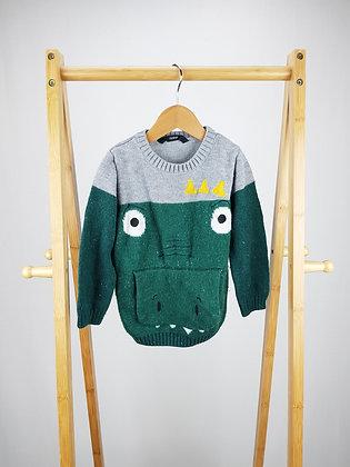 George knitted dinosaur jumper 2-3 years