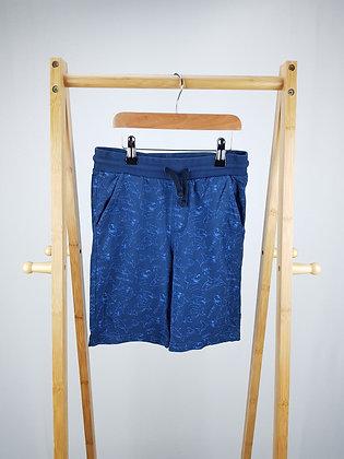 F&F blue shark shorts 9-10 years