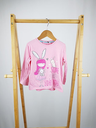 Pep&Co some bunny loves you long sleeve top 3-4 years