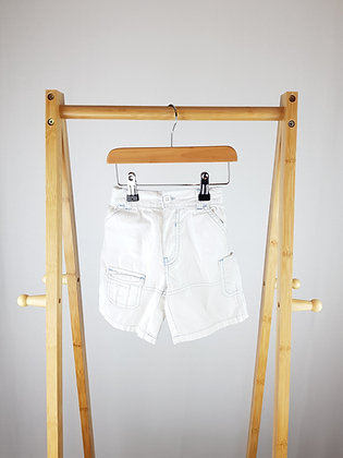 Mothercare white shorts 12-18 months
