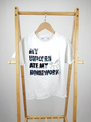 M&S flippy sequin unicorn t-shirt 12-13 years playwear