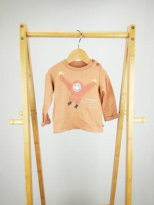 F&F orangutan long sleeve top 6-9 months