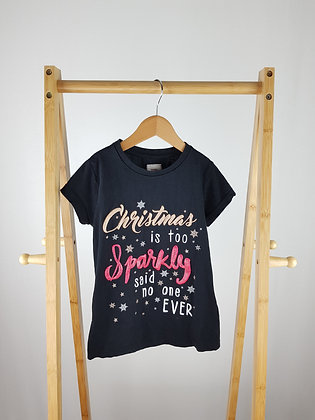 George sparkly Christmas t-shirt 7-8 years
