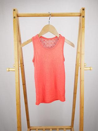 George orange lace back vest top 8-9 years