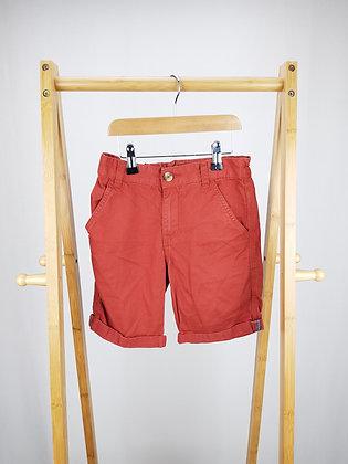 F&F red denim shorts 8-9 years