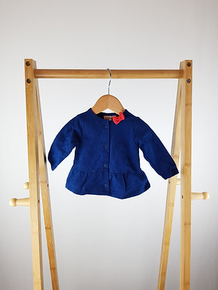 Bluezoo navy cardigan 0-3 months