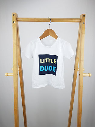 Primark little dude t-shirt 18-24 months