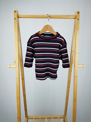 New Look ribbed striped crop top  9 years