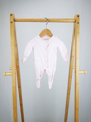 F&F striped sleepsuit newborn
