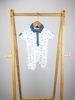 George tiger polo romper 0-3 months