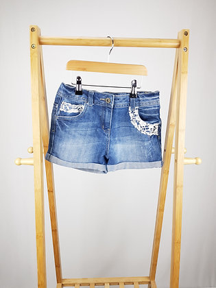 George denim shorts 9-10 years