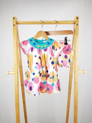 Butterfly by Matthew Williamson 2pc dress set 9-12 months