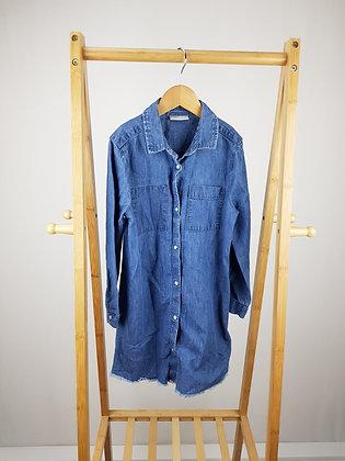 Matalan long sleeve denim shirt dress 8 years