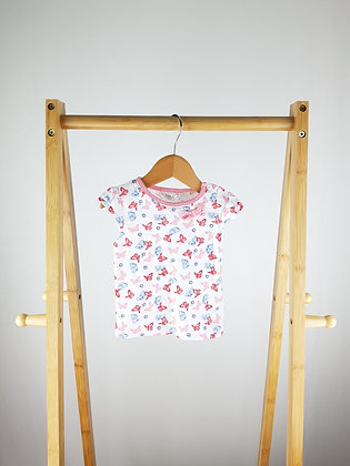 M&Co butterfly bow t-shirt 6-9 months