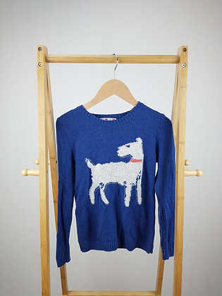 John Lewis blue knitted sweater 11 years