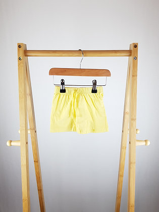 Unbranded yellow shorts 3-6 months