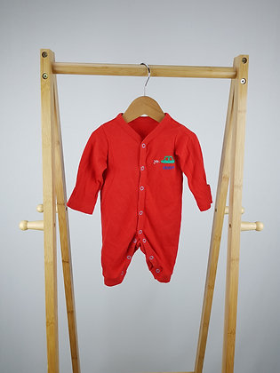 Mothercare red long sleeve all-in one up to 1 month