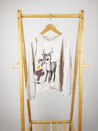 H&M deer sweater 8-10 years playwear