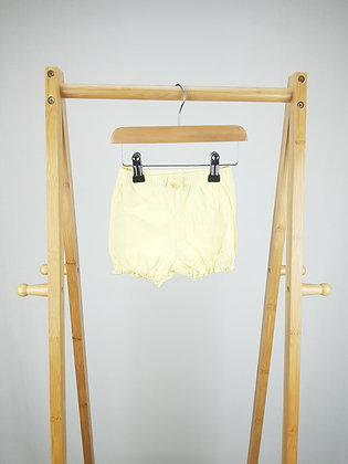 George yellow shorts 6-9 months