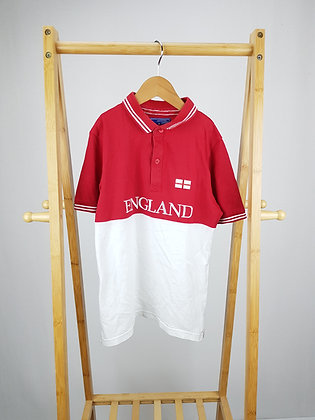 TU England polo shirt 9 years