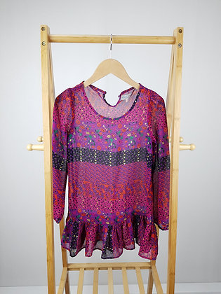 M&S floral sheer blouse 9-10 years