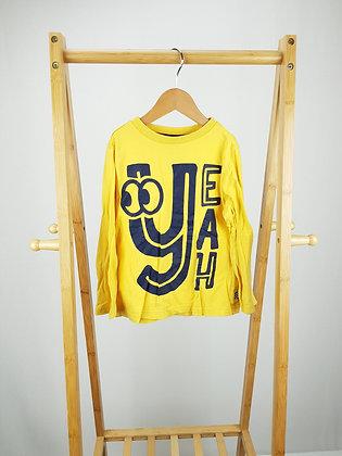 F&F yellow long sleeve top 5-6 years