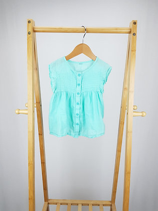 M&S green blouse top 2-3 years