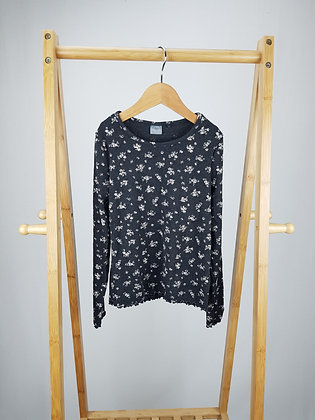 Next floral ribbed long sleeve top 5-6 years