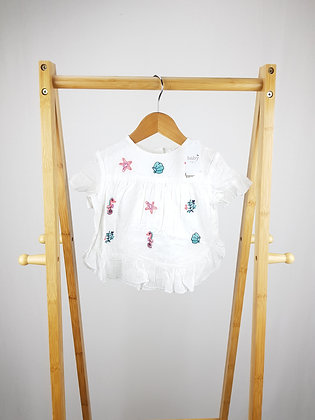 M&Co embroidered t-shirt 9-12 months